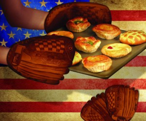 Baseball Glove Oven Mitt – What's more American than baseball and apple pie?