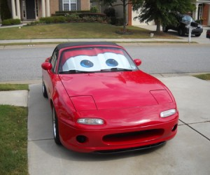 Cars Lightning McQueen Sunshade – Transform your boring old car into  a 'precision instrument of speed and aerodynamics!'.