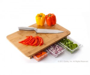 Food Storage Cutting Board – It slices, it dices, it even stores your food too!