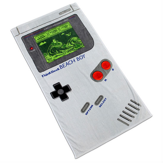 game boy beach towel
