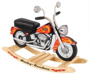 Harley Davidson Motorcycle Rocker – A much less sissy option to the traditional rocking horse.