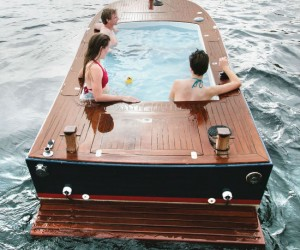 How could you resist the urge to sit in water while floating on water?