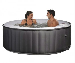 Now you can have a hot tub wherever and whenever with the Swimline's inflatable hot tub!