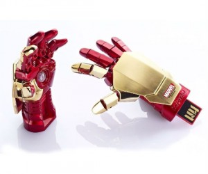 Little known fact, the glove on Iron Man's suit can hold memory like a flash drive!