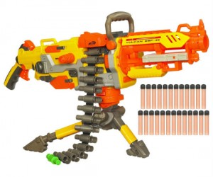 Nerf Gatling Gun – The ultimate foam dart launching weapon, let the Nerf wars begin!