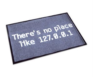 If you spend more time on the internet than anywhere else in your home, then this is the doormat for you!