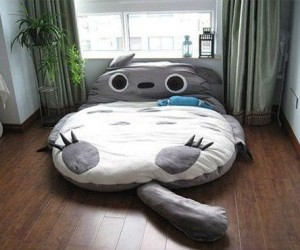 Totoro Bed – Nothing's more comfortable than laying on Totoro's big fluffy belly!