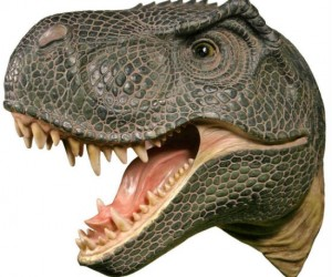 T-Rex Head Mount – Jurassic Park never felt so close!  *recorder sold separately