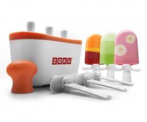 Making popsicles is a breeze (takes just about 7 minutes) with the zoku quick pop maker!