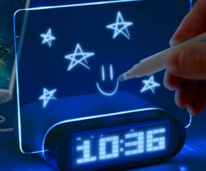 Glowing Message Alarm Clock – Great for writing inspirational messages for yourself to see in the morning.