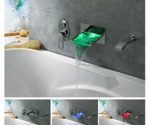 Now you can have the luxury of bathing under a waterfall in your own bathroom, with LEDs!!