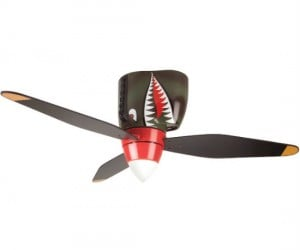 It's a bird! It's a plane! It's a P-40 WWII Tiger Shark Warplane ceiling fan!