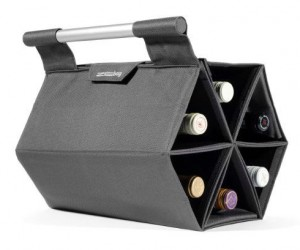 A portable wine rack perfect for providing wine for large parties!