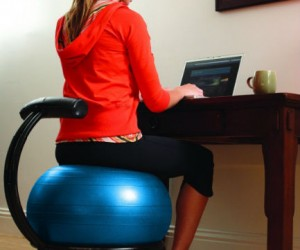 Fitness Ball Chair – Improve your posture while you work.