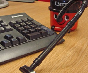 Messy desk? Crumbs everywhere? Then you need a Henry the Hoover desktop vacuum!