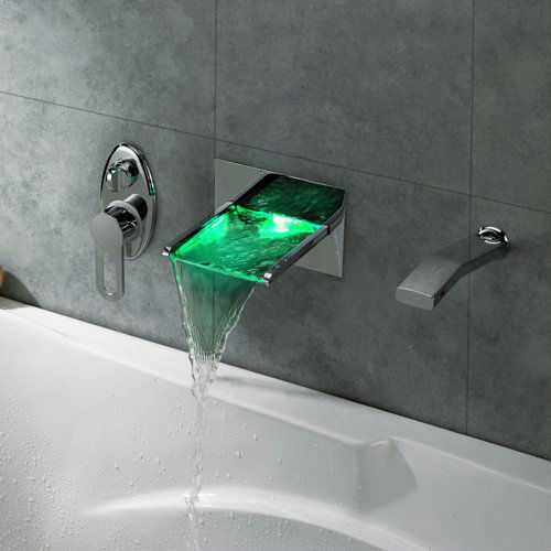 Led waterfall bath tub faucet shut up and take my money for Robinet salle de bain led
