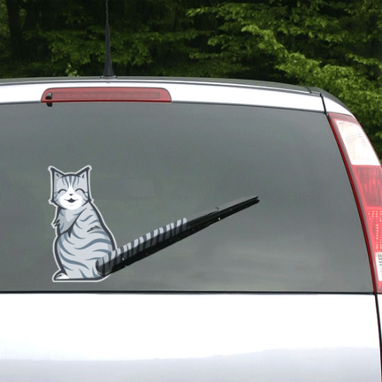 Moving Tail Kitty Car Decal Shut Up And Take My Money