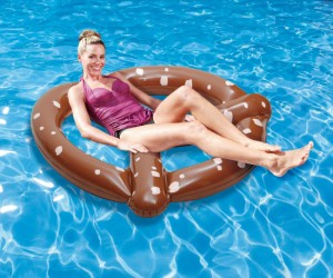 This pretzel is much better with pool water instead of mustard!