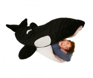 Snoreca Orca Sleeping Bag – Who wouldn't want to sleep in the giant mouth of a killer whale?