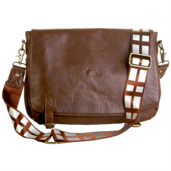 chewbacca leather messenger bag