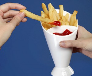 The classy way to enjoy your french fries.