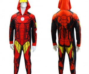 Iron Man Onesie – Well I guess it's more of a Fleece Man than Iron Man, but it still works!