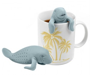 "Who better to infuse your tea than a manatee, they have ""tea"" right in the name!"
