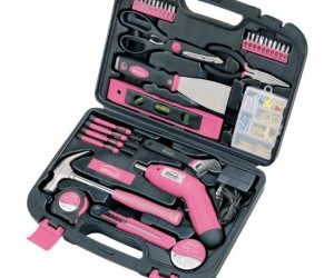 Pink Tool Kit – Strong enough for a man, built for a woman. (Because it's pink)