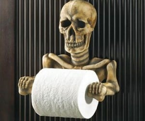Skeleton Toilet Paper Holder – Scare the crap out of people… literally.