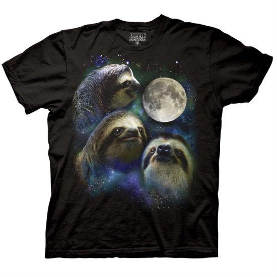 three sloth moon shirt