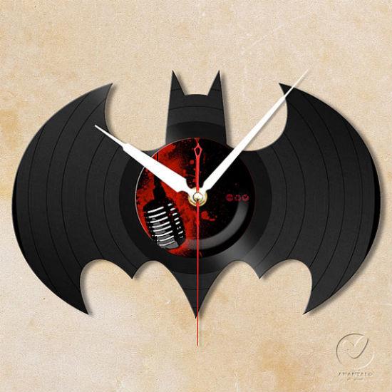 vinyl batman wall clock