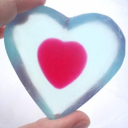 zelda heart soap