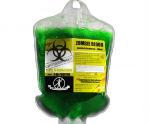 Zombie Blood Shower Gel – Find out how many showers you can make it through before you catch the zombie virus!