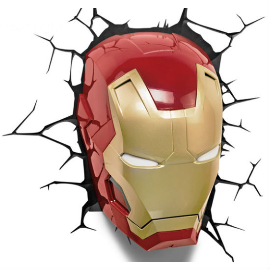 3D Iron Man Wall Light Shut Up And Take My Money