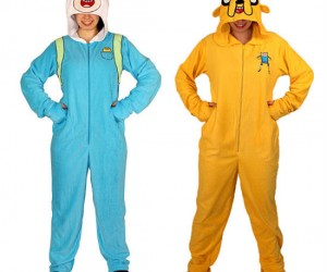 Dream about The Flame Princess, Lady Rainicorn and the Candy Kingdom in your new Adventure Time footie suits!