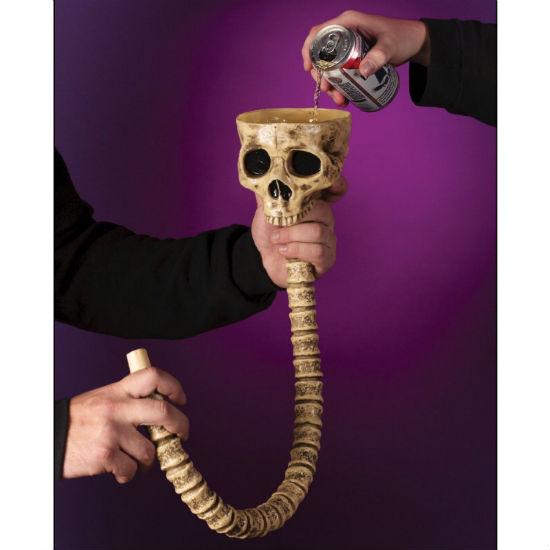 skull beer bong