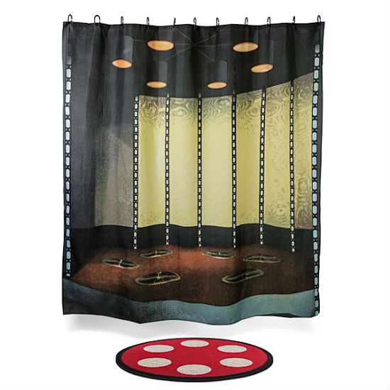 star trek transporter bath mat and shower curtain set