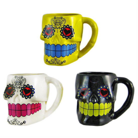 sugar skull mug set