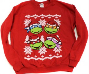 TMNT Ugly Christmas Sweater – I thought christmas sweaters were supposed to be ugly not awesomely radical.