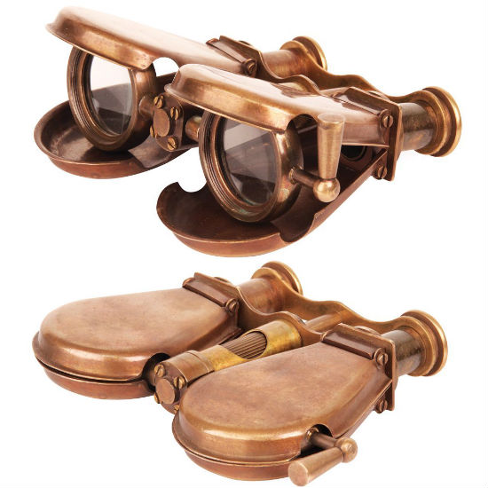 folding steampunk binoculars