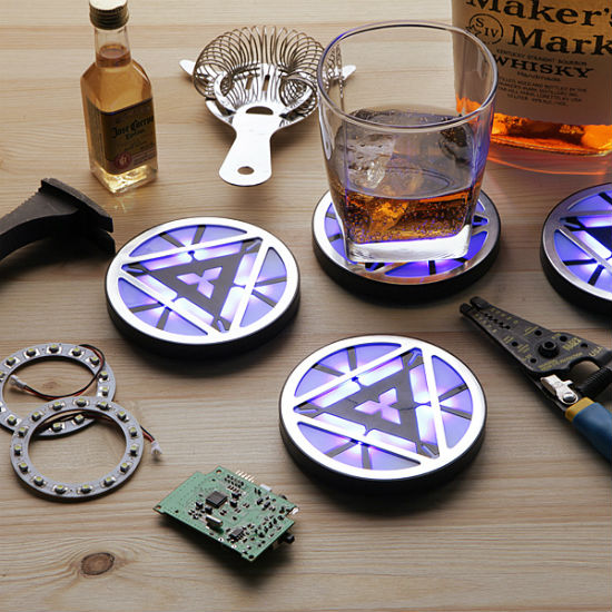 iron man light up coasters