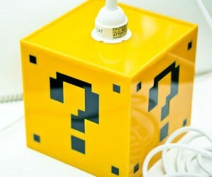 Mario Question Mark Block Lamp – There's no question about how awesome this lamp is! Just try not to hit your head on it.