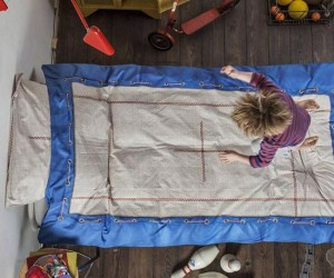 Now you'll never be able to tell your kids not to jump on the bed when it looks like a trampoline.
