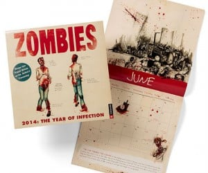 Surviving The Zombie Outbreak 2014 Calendar – 365 days of Zombie survival tips and tricks.