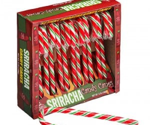 Sriracha Candy Canes – Guaranteed to be the hottest Christmas gift this year!