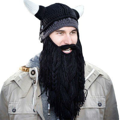 barbarian beard head beanie