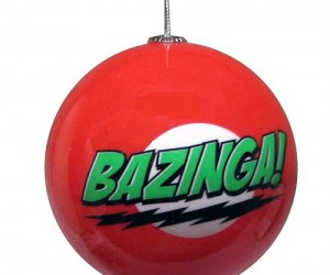 The Big Bang Theory Bazinga Ornament – Celebrate the holidays like only Sheldon Cooper can. Bazinga!
