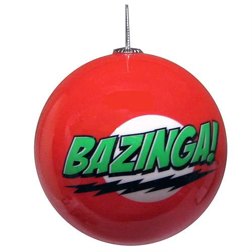bazinga ball ornament