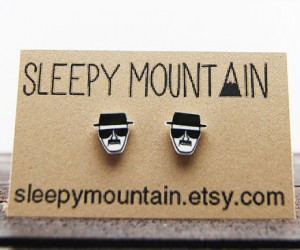 Breaking Bad Heisenberg Sketch Earrings – For the lady meth dealer of the family.