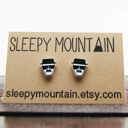 breaking bad heisenberg earrings